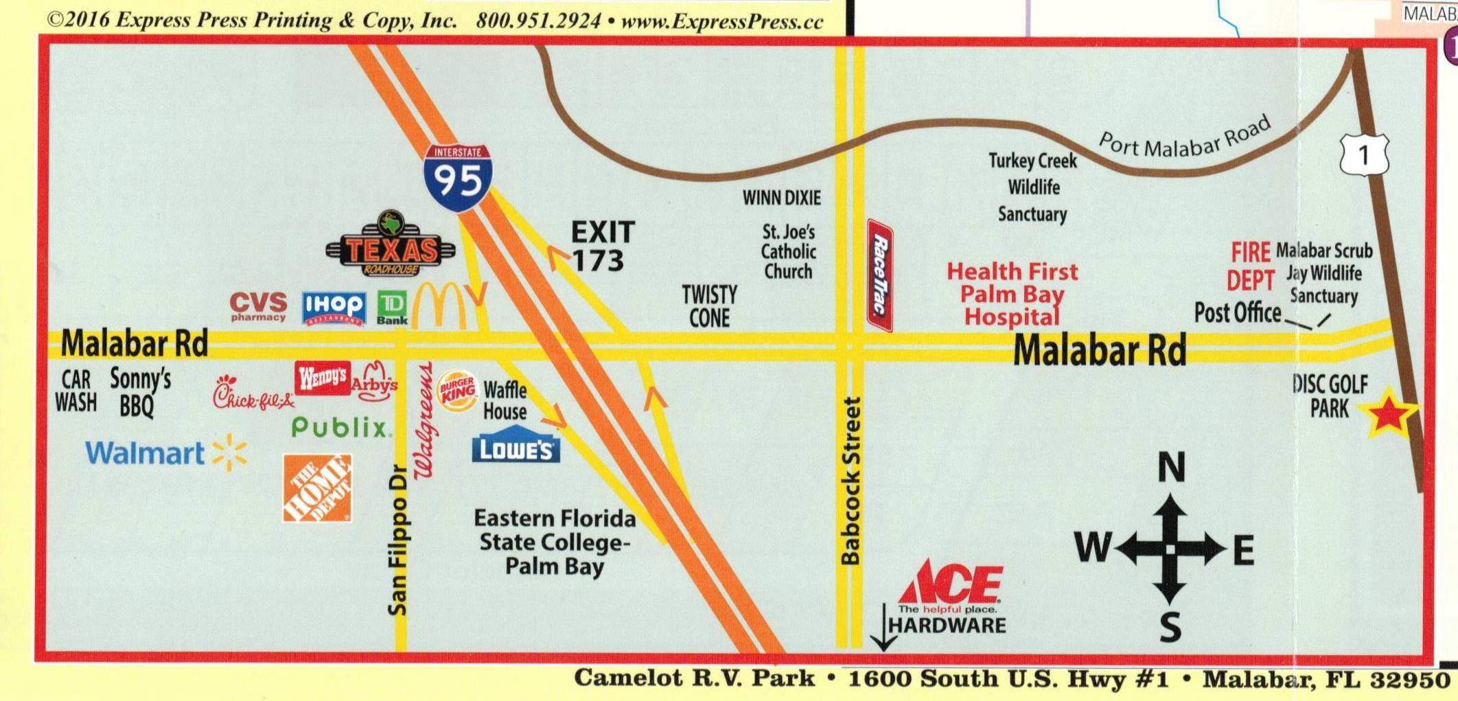 Eastern Florida State College Map.Park Map Camelotrvpark Com